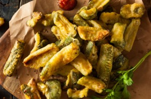 Crispy courgette fries recipe