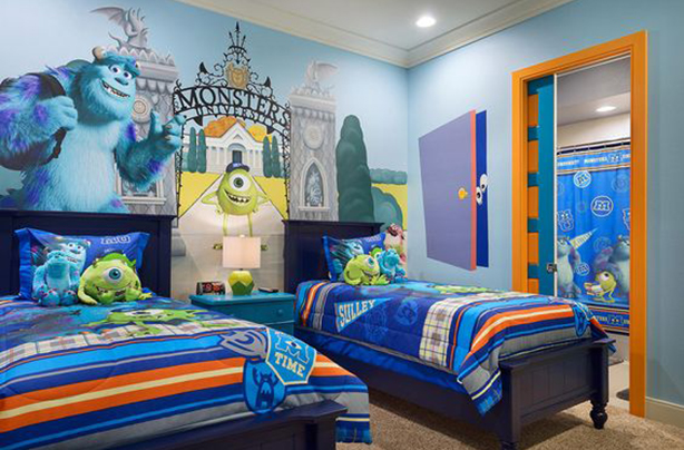 4 this wonderful monsters inc hideaway - Disney Bedroom Designs