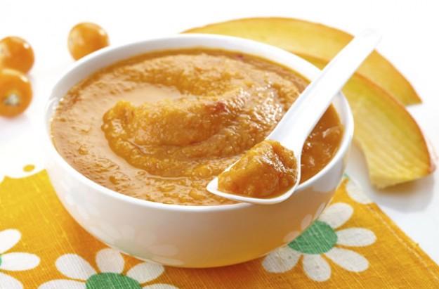 Squash puree baby food