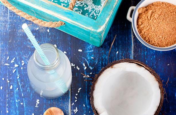 Coconut water, coconut sugar