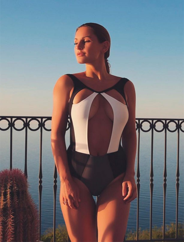 Sam Faiers poses in bikini