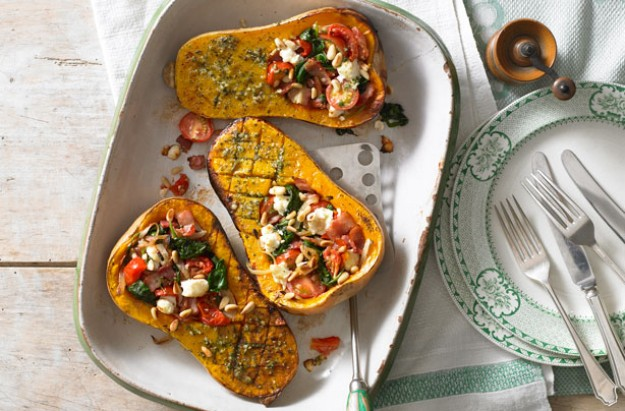 Pesto-roasted butternut squash