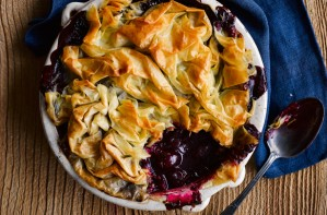 Cherry filo pie