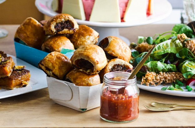 Bloody Mary sausage rolls