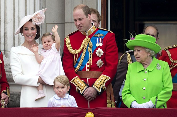 Princess Charlotte makes her balcony debut for the Queen's 90th birthday