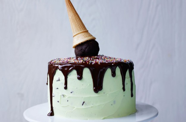 Martha Collison's mint chocolate ice-cream cake