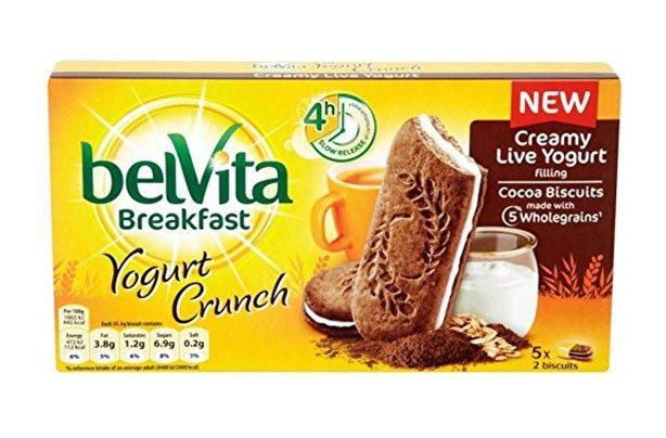 Belvita Yoghurt Crunch Cocoa, best and worst cereal bars