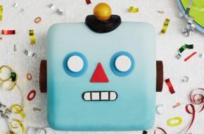 Emoji robot cake