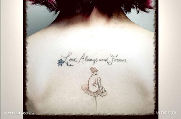 Lily Collins tattoo