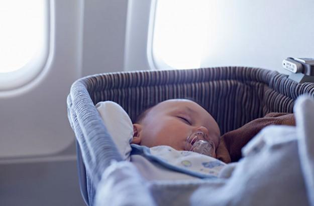 Baby on aeroplane
