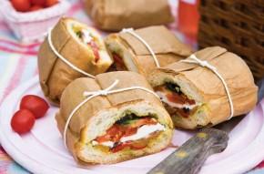 Mediterranean layered sandwich