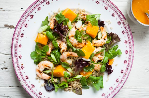 Hairy Bikers' quinoa, prawn and mango salad