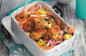 Slimming World's mango chicken with coleslaw