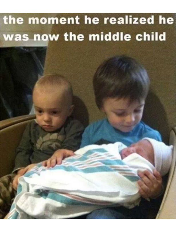 middle child Middle child day is an unofficial holiday that falls annually on august 12th and celebrates a member of the family who faces special challenges: the middle child the middle child isn't considered the leader like the older child and isn't the baby like the younger child, so what exactly is his or her place.