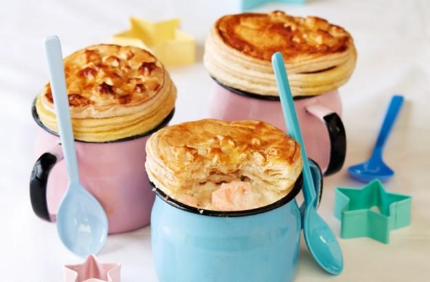 Fish pies in a mug