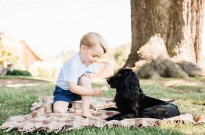 Prince George and Lupo