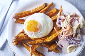 Summer egg and chips