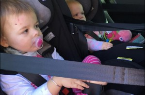 car seat danger accident front