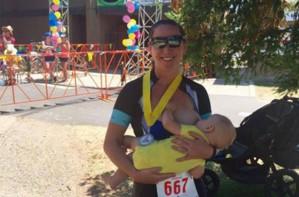 Thriathlon breastfeeding mum