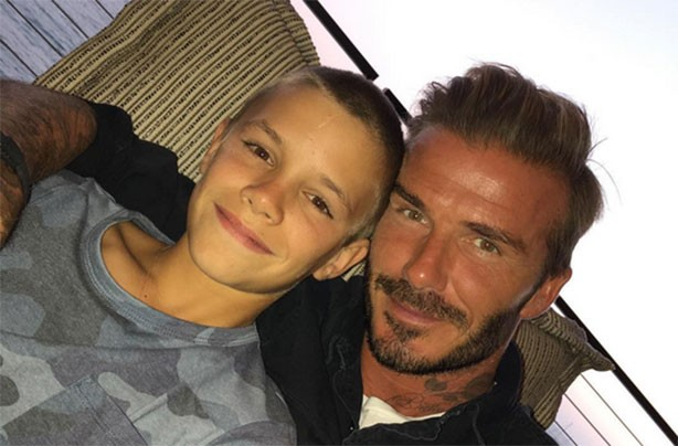 David and Romeo Beckham