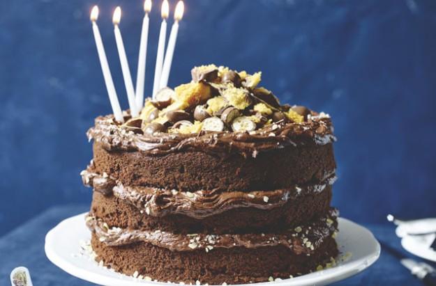 Matilda's Bruce Bogtrotter birthday cake