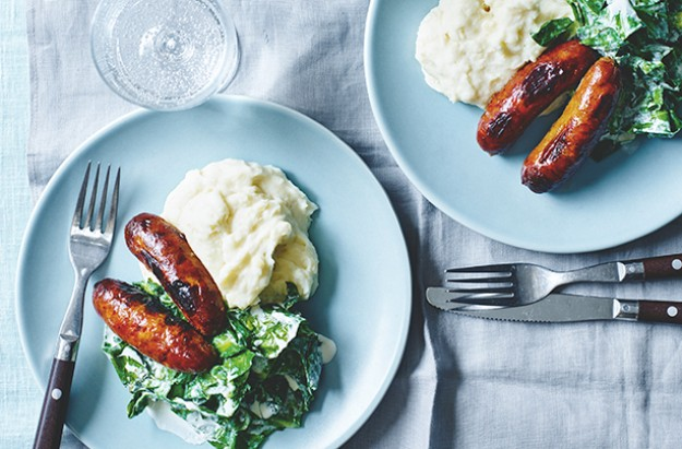 Sausages and Butterbean Mash
