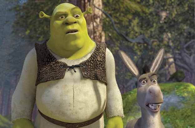 kids film book shrek