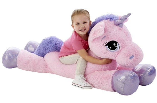 """Top toys for Christmas 2017: Animal Alley Pink 45"""" Unicorn Soft Toy"""