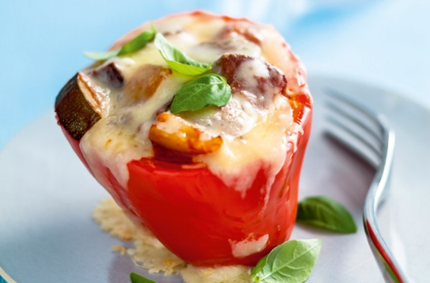 Ratatouille stuffed peppers