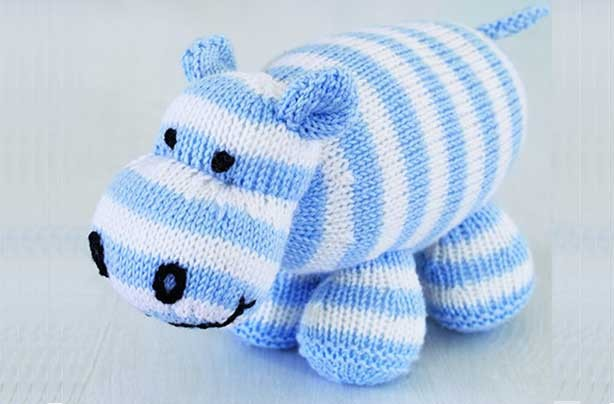 Free knitting patterns - Free knitting patterns UK: Hippo toy knitting patter...
