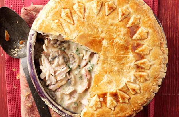 Easy recipes for chicken and mushroom pie