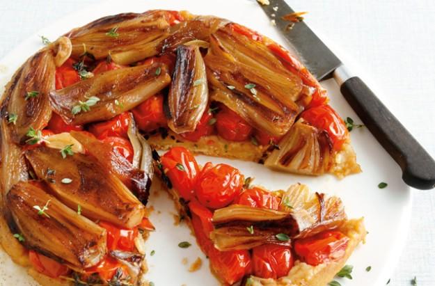 tomato and shalloww tarte tatin