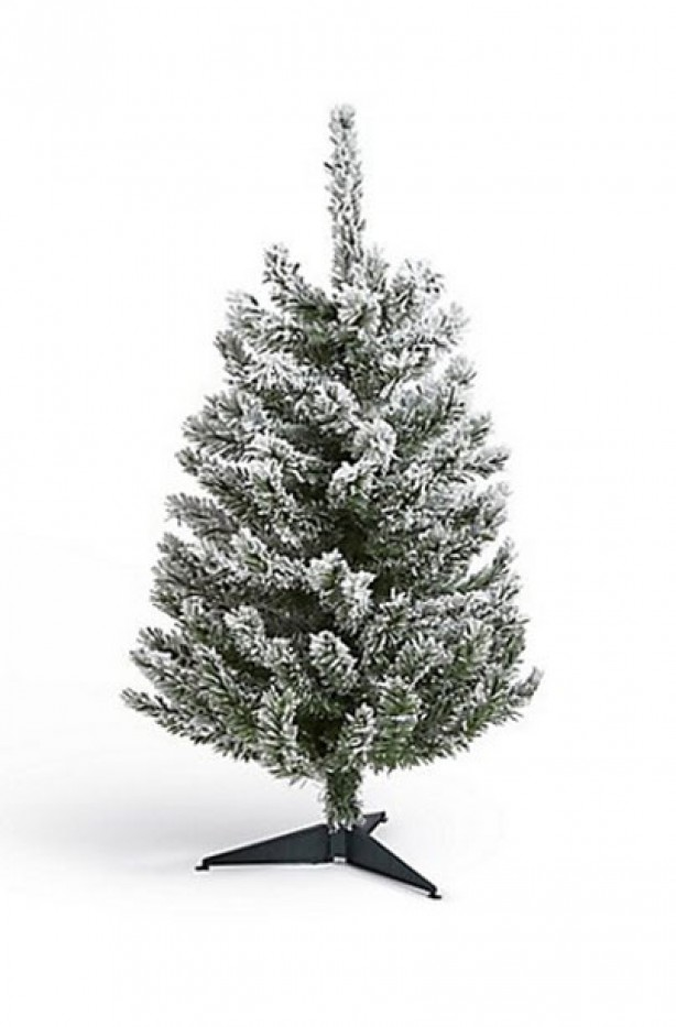Best artificial Christmas Trees - Little trees: 3 ft Flocked ...