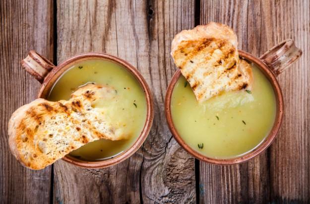 Curried leek and potato soup