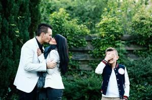 Gross parents, embarrassing parents, kissing