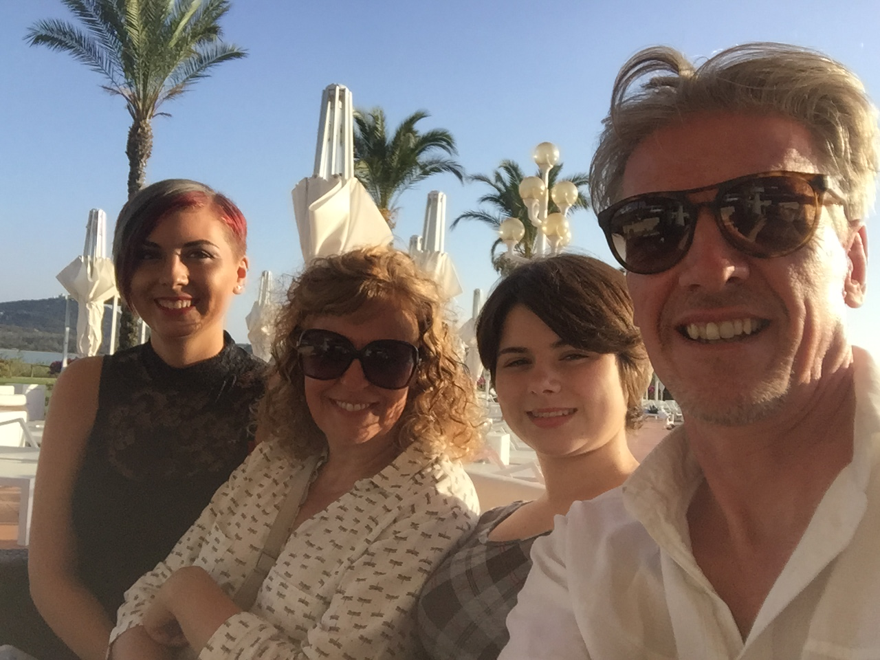 Image: Regina Alston Regina, Her Husband Andrew, And Megan And Lily On  Holiday '
