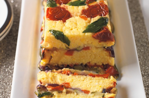 Vegetable and polenta terrine