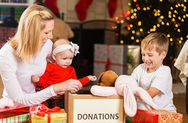 Family charity at Christmas