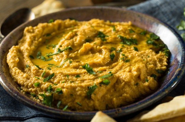 Smoky squash and Stilton dip