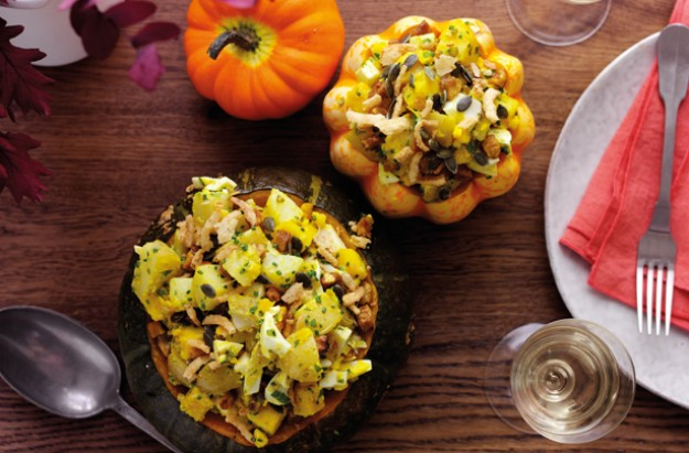 Mustard squash and potato salad