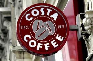 Costa coffee logo sign