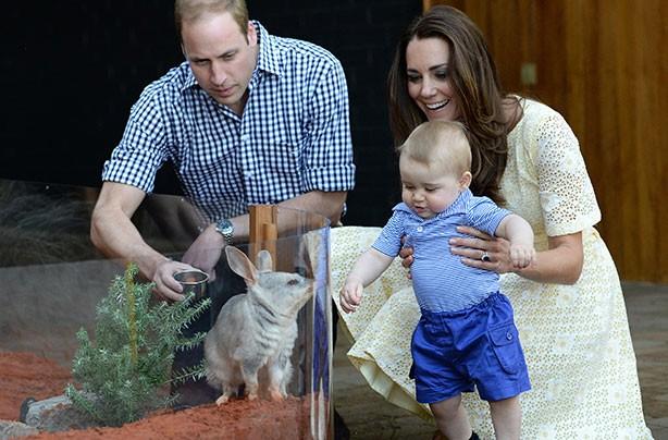 Prince George in Australia 2014