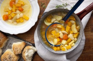 Chunky vegetable soup recipe