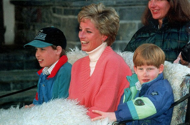 Princess Diana, Prince William, Prince Harry, March 1994