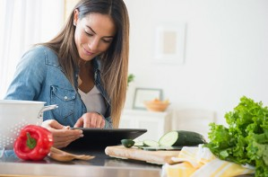 Woman cooking, healthy eating, diets, Weight Watchers