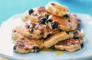 Blueberry scotch pancakes