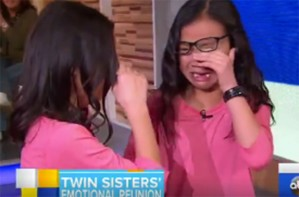 Gracie Rainsberry and Audrey Doering, Good Morning America, twin reunion