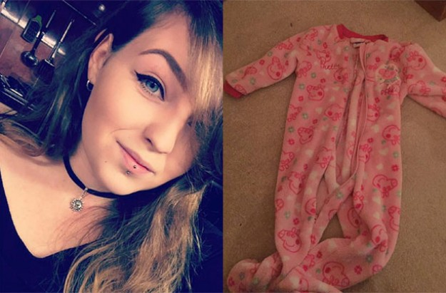 Mum saves daughter from choking on a onesie