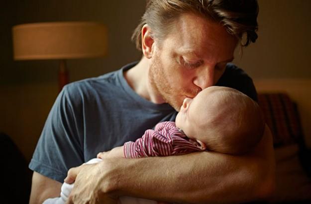 Holding your newborn baby