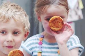 homemade sweet potato smiley faces